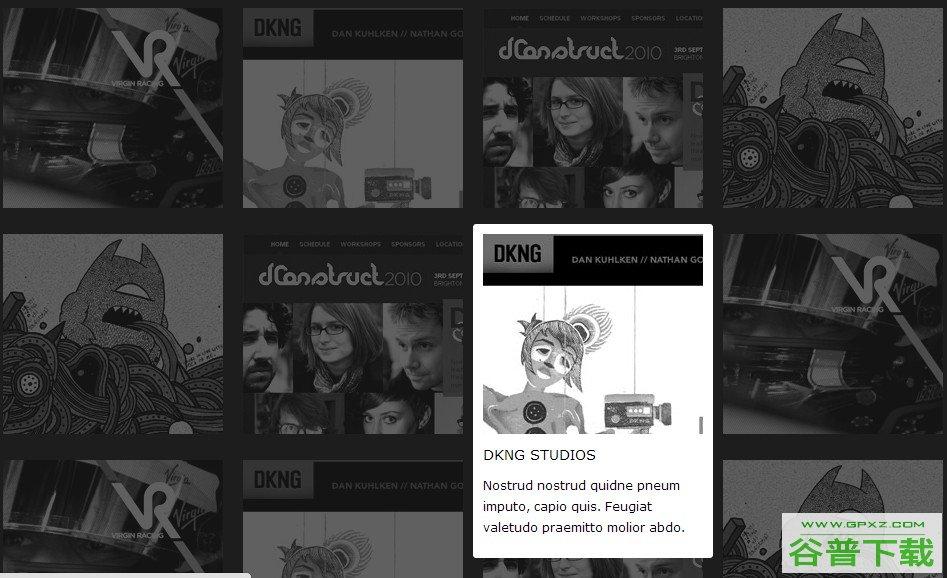 css3图片高亮突出显示特效代码免费下载