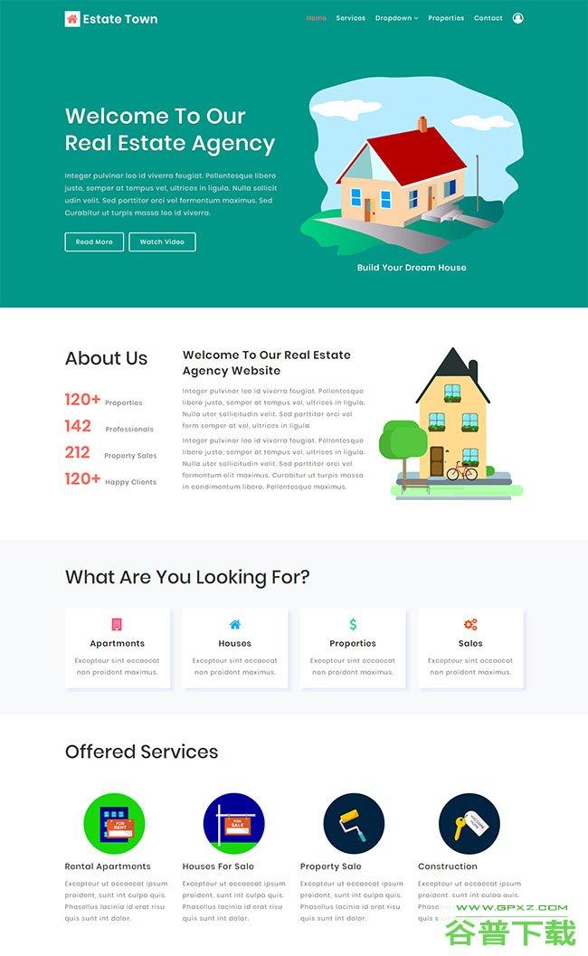 房地产经纪公司网页模板免费下载