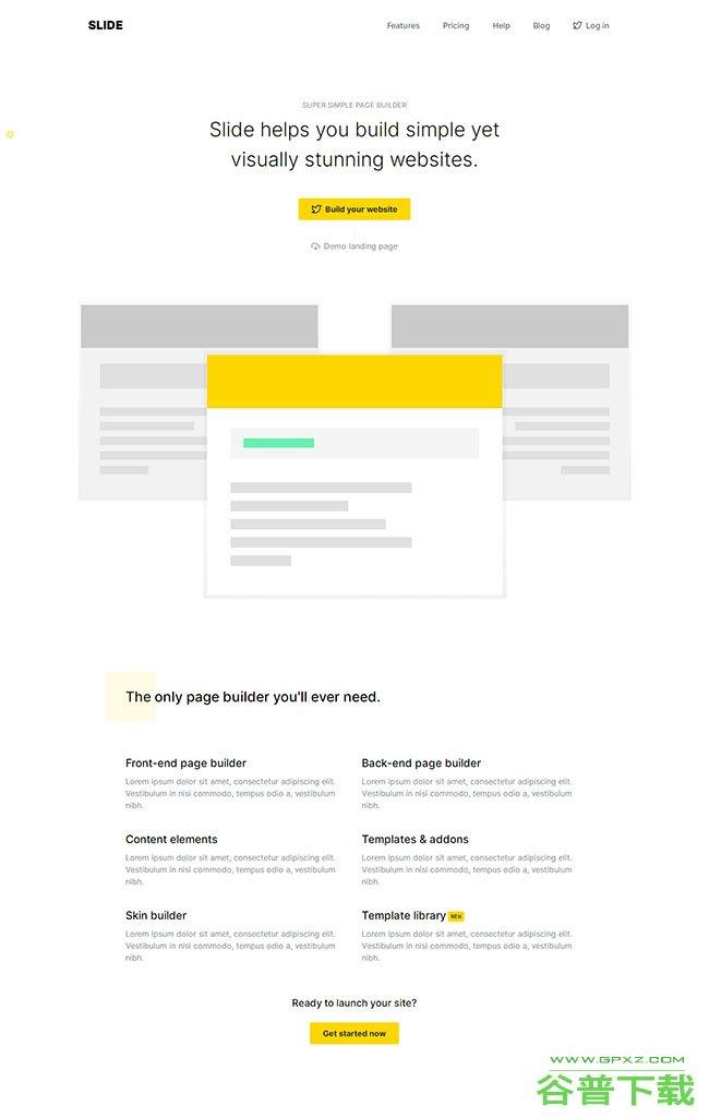 前端页面构建系统网站模板免费下载