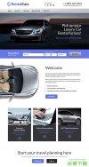 豪华奔驰车机企业网站模板免费下载