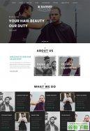男士发型设计网站模板免费下载