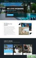 海滩度假山庄酒店网站模板免费下载