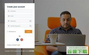 创建会员帐户页面模板免费下载