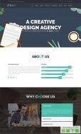 创意设计机构单页模板免费下载