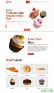 奶油蛋糕甜品店网站模板免费下载