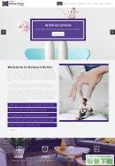 紫色室内装修设计网站模板免费下载