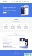 蓝色APP制作企业网站模板免费下载
