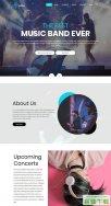 音乐乐队展示网站模板免费下载