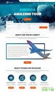 宽屏环球旅行网站模板免费下载