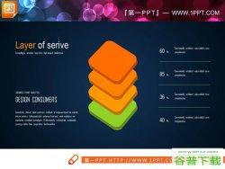 10张金字塔形层级关系图表PPT模板免费下载