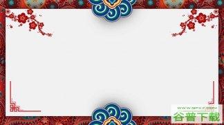 古典民族风背景图片PPT模板免费下载