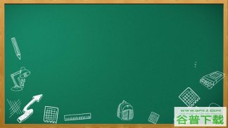 四张绿色黑板背景图片PPT模板免费下载