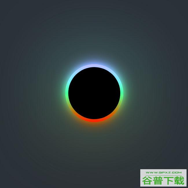 彩色发光的黑洞CSS3特效特效代码免费下载