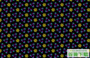 碎花图案矩阵Canvas特效特效代码免费下载