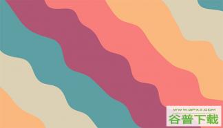 彩色条状海浪Canvas特效特效代码免费下载