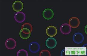 JS彩色气泡移动碰撞特效特效代码免费下载