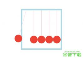CSS3牛顿摇摆球动画特效特效代码免费下载