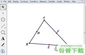 几何画板如何用画九点圆 绘制方法介绍
